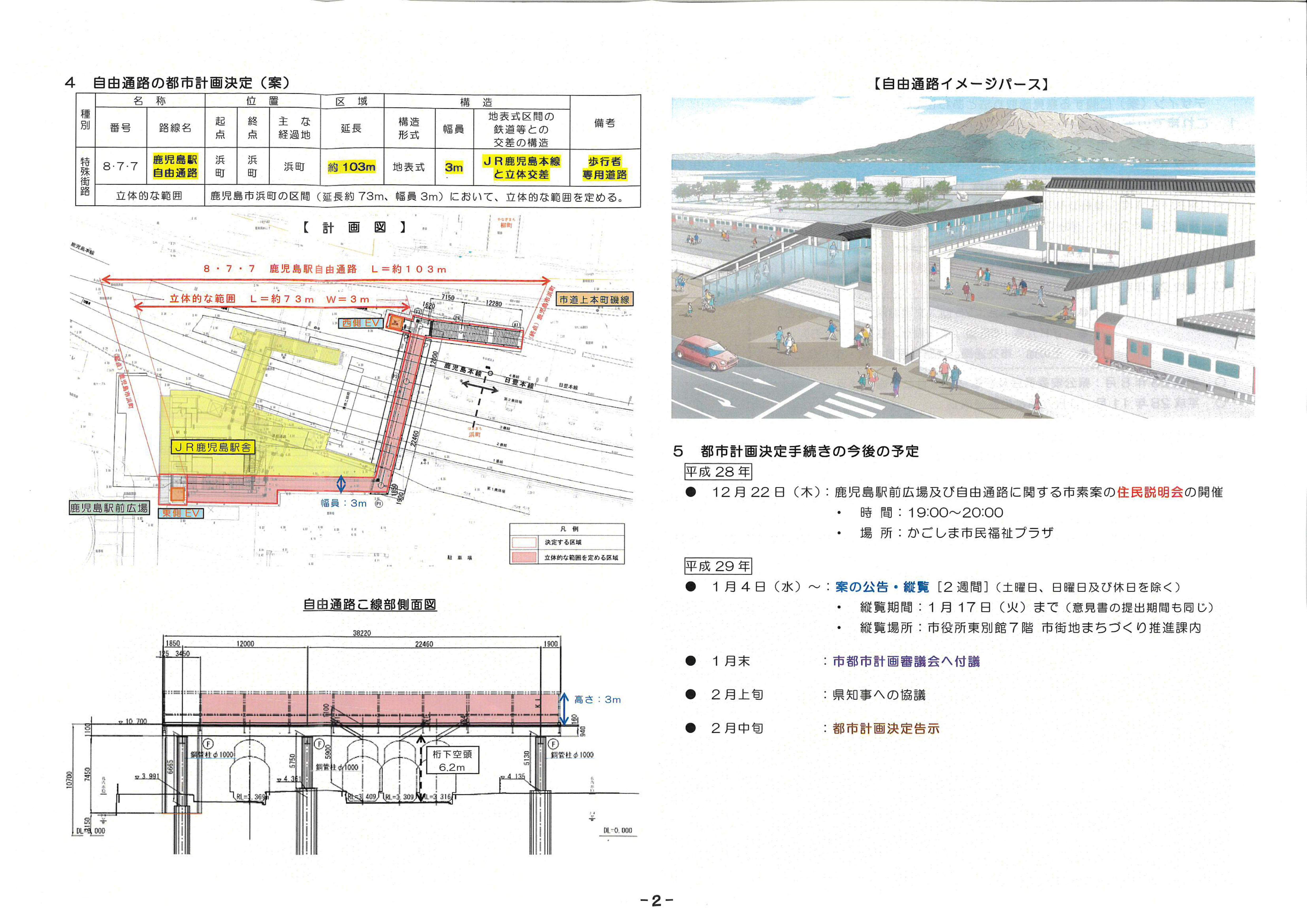 鹿児島駅前自由通路イメージ